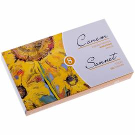Краски масляные Сонет, 08 цветов, 10мл/туба, картон