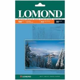 Бумага А5 (210*148) для стр. принтеров Lomond, 180г/м2 (50л) мат.одн.