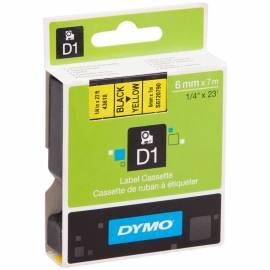 Картридж с лентой Dymo, 6мм, 7м, черн. буквы, желтая