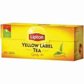 """Чай Lipton """"Yellow Label"""", черный, 25 пакетиков по 2г"""