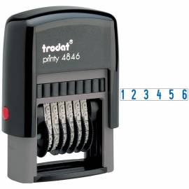 Нумератор мини автомат Trodat, 4,0мм, 6 разрядов, пластик