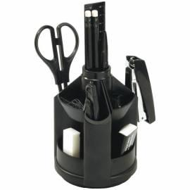 """Настольный органайзер Erich Krause """"Mini Desk Fregatte"""", 12 предметов, вращающийся, черный"""