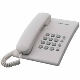 Телефон проводной Panasonic KX-TS2350RUW, повторный набор, белый