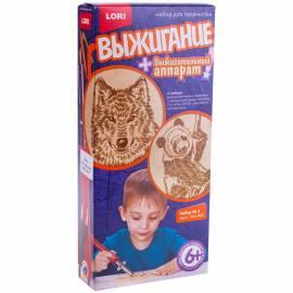 """Набор для выжигания Lori №4 """"Волк, Панда"""" с прибором, 2*A5, картонная коробка"""