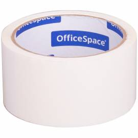 Клейкая лента упаковочная OfficeSpace, 48мм*40м, 45мкм, белая, ШК