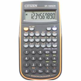 Калькулятор научный Citizen SR-135NOR, 10 разр., 128 функц., пит. от батарейки, 78*153*12мм, оранж.