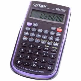 Калькулятор научный Citizen SRP-145NPU, 10 разр., 86 функц., пит. от батарейки, 78*153*12мм, фиолет.