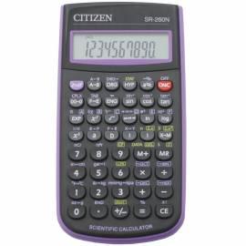 Калькулятор научный Citizen SR-260NPU 10+2 разр., 165 функц., пит. от батарейки, 78*153*12мм,фиолет.