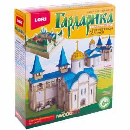 """Конструктор из деревянной соломки Lori """"Гардарика. Соборный комплекс"""", от 6-ти лет,  картон. коробка"""