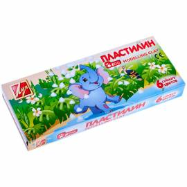 "Пластилин Луч ""Zoo"", 06 цветов, 81г, картон"