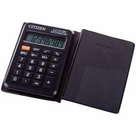 Калькулятор карманный Citizen LC-210N, 8 разр., питание от батарейки, 62*98*11мм, черный