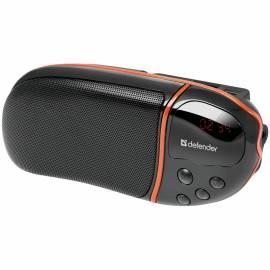 Колонка Defender Spark M1, 1*6W, FM, SD/USB, портативная, черный, оранжевый