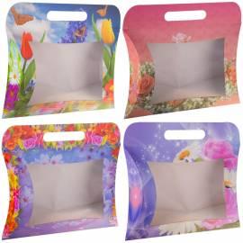 """Упаковка подарочная Принт Торг """"Сумочки"""", 24*29*5,6 см, набор 4 женских дизайна по 5шт."""