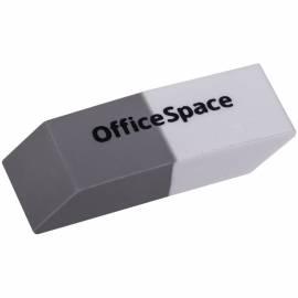 Ластик OfficeSpace, скошенный, комбинированный, термопластичная резина, 41*14*8мм