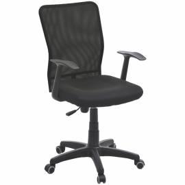"""Кресло руководителя Furniture """"Альфа"""" PL, ткань/черная, спинка сетка/черный, механизм качания"""