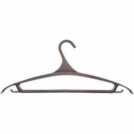 Вешалка-плечики для легкой верхней одежды Мультипласт, пластик, р.48-50, черная