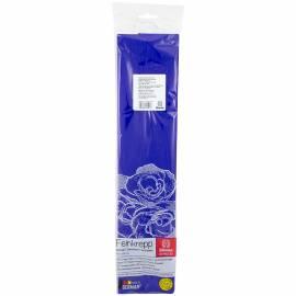 Бумага крепированная Werola, 50*250см, 32г/м2, растяжение 55%, ультрамарин, в индивид. упаковке