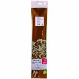 Бумага крепированная Werola, 50*250см, 32г/м2, растяжение 55%, коричневая, в индивидуальной упаковке