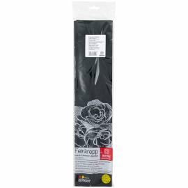 Бумага крепированная Werola, 50*250см, 32г/м2, растяжение 55%, черная, в индивидуальной упаковке