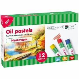 """Пастель масляная Greenwich Line """"ИзоСтудия"""", 12 цветов, картон. упак."""