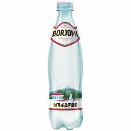 Вода минеральная газированная Боржоми 0,5л, пластиковая бутылка