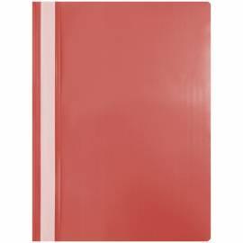Папка-скоросшиватель пластик. OfficeSpace, А4, 120мкм, красная с прозр. верхом