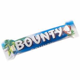 Шоколадный батончик Bounty, молочный шоколад, 55г