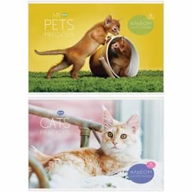 """Альбом для рисования 08л., А4, на скрепке ArtSpace """"Животные. My pets"""", обложка-офсет"""