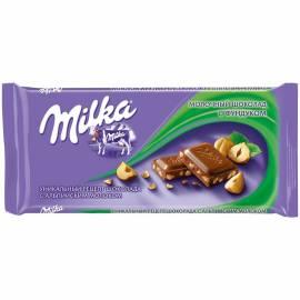 "Шоколад Milka ""Молочный с фундуком"", 90г"