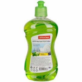 """Средство для мытья посуды OfficeClean """"Алоэ и зеленый чай"""", пуш-пул, 0,5л"""