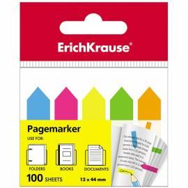 Флажки-закладки Erich Krause, 44*12мм, 20л*5 неоновых цветов, европодвес