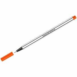 "Ручка капиллярная Luxor ""Fine Writer 045"" оранжевая, 0,8мм"