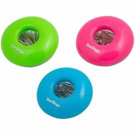 "Скрепочница магнитная ""Round"", со скрепками 30шт., цвет ассорти, европодвес"