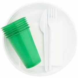 """Набор столовых приборов однораз. Мистерия """"Пикничок"""", ПС (вилки, ножи, стаканы, тарелки, салфетки)"""
