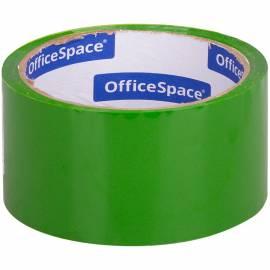Клейкая лента упаковочная OfficeSpace, 48мм*40м, 45мкм, зеленая, ШК