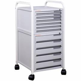 Картотека мобильная Sysmax, с 11 ящиками, на колесах, с замком 32*35, 5*68 см, серый
