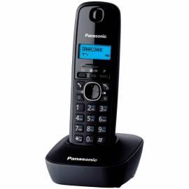 Телефон беспроводной Panasonic KX-TG1611RUH, монохром. дисплей, АОН, 50 номеров, черный